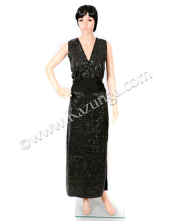 womens black long dress on rent