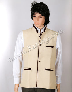 Cream Bandh Gala Jacket