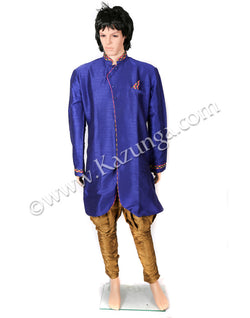Blue Sherwani with Jodhpuri Trouser