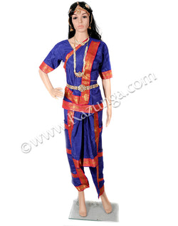 Blue Bharatnatyam dress on rent