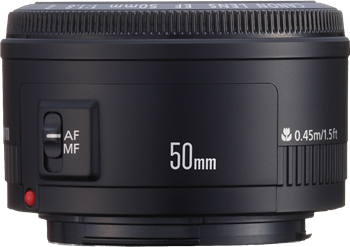 Canon EF50mm F/1.8 11 Lens Close