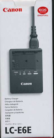 Original Canon LC-E6E charger for LP E6 batteries