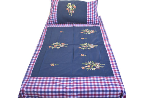 Fabby Home Embroider Single Bedsheet