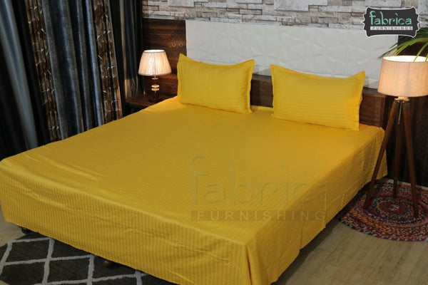 Fabby Home Pure Cotton Self Striped King Size Bedsheet