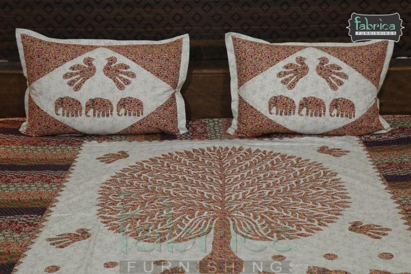 Decor Designer Print Cotton Double Bed Queen Size Bed Sheets (93*108 Inch)