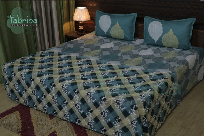 Fabby Decor Designer Print Cotton Double Bed Super King Size Bed Sheets