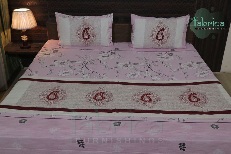 Fabby Royal Designer kingsize Embroidered Double Bedsheet