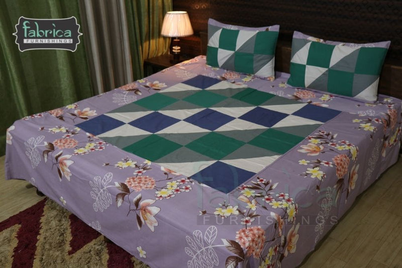 Fabby Decor Mix and Match Printed Cotton Double Bed King Size Bed Sheets