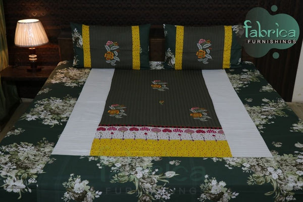 Decor Designer Mix & Match Embroider Double Bed King Size Bed Sheets