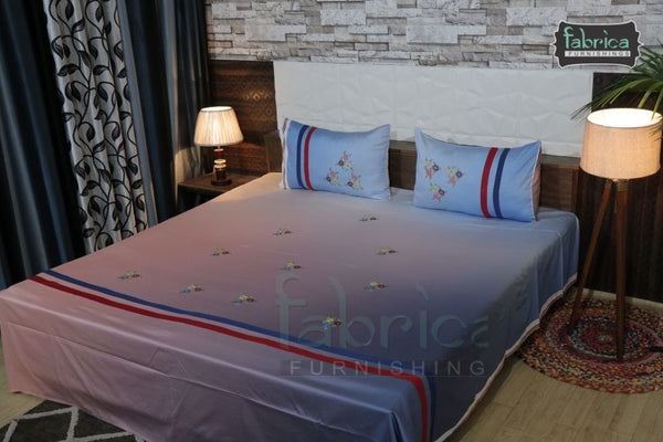 Decor Classic Embroider Cotton Designer King Bed Sheets