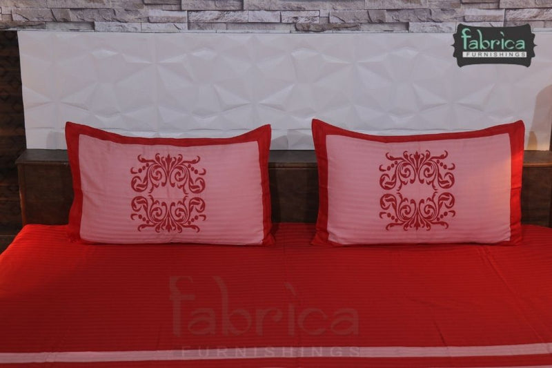 Fabby Royal Designer Embroidered king Size Bed Sheets