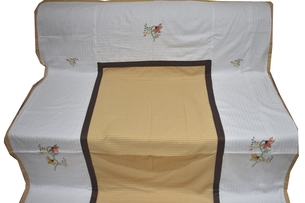 Embroider Single Duvet Covers Pair