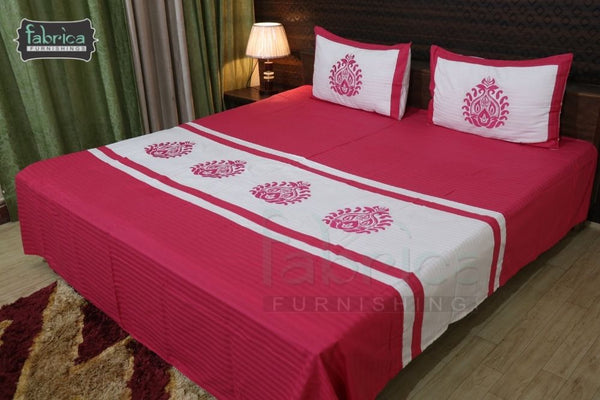 Fabby Royal Designer Embroider king Size Bed Sheets