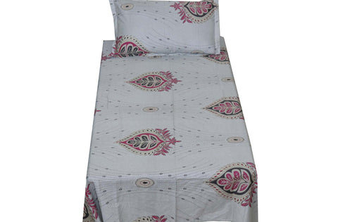 Fabby Home Print Cotton Single Bedsheet
