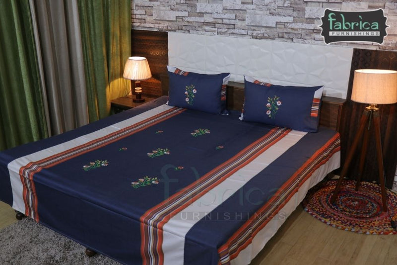 Fabby Home Designer Embroider Double King Size Bedsheet