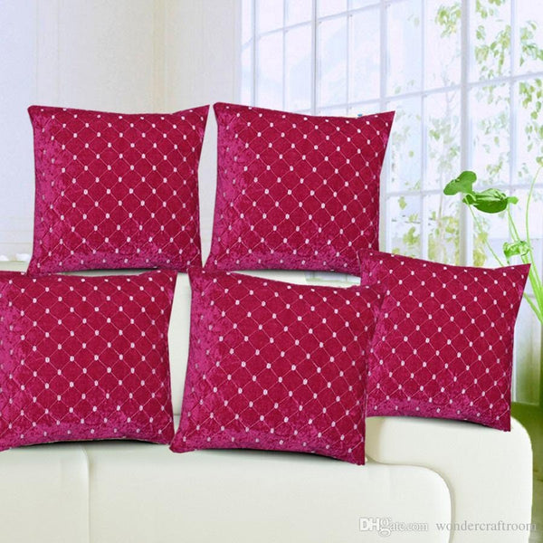 Anita's Royal Velvet Cushion Covers(Set of 5).