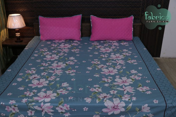 Fabby Decor Classic Print Cotton Double Bed King Size Bed Sheets