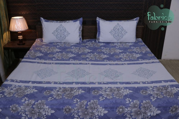 EMBROIDERED COTTON DESIGNER KING SIZE BED SHEETS