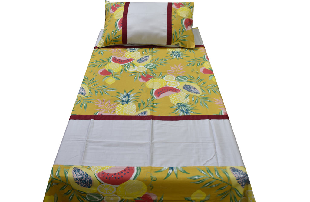 Fabby Home Mix and Match Cotton Single Bedsheet