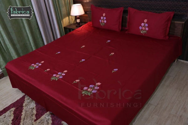 Decor Cotton Embroider Designer Double Bed Queen Size Bed Sheets