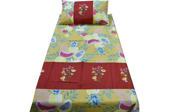 Fabby Home Embroidered Single Bed Sheet