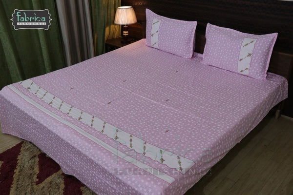 Decor Classic Embroider Cotton Designer Queen Size Bedsheet