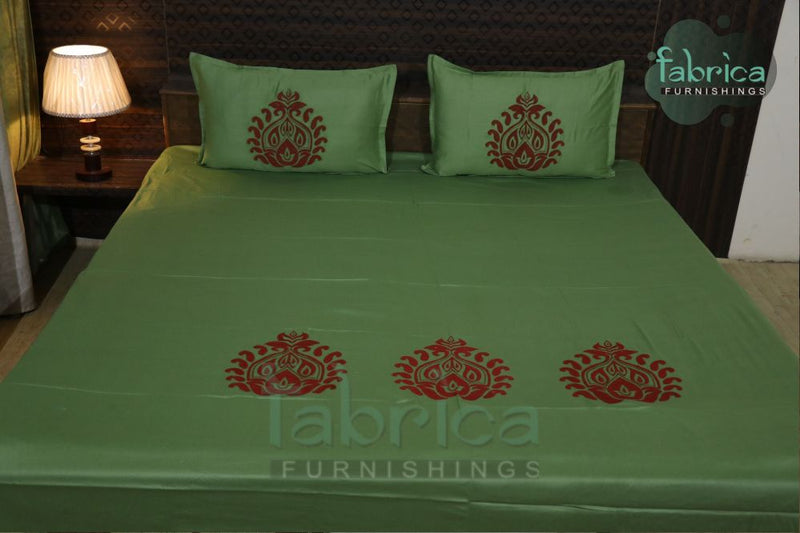 Decor classic Designer Embroider Cotton Queen Size Bed Sheets