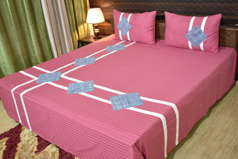 Fabby Decor Kingsize Red Mix and Match Cotton Bedsheet
