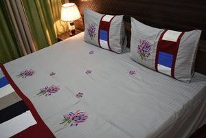 Fabby Royal Designer  Embroider Bedsheet