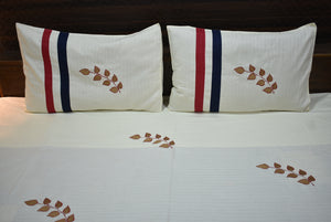 Fabby Royal Light Cream Designer kingsize Embroider Bedsheet