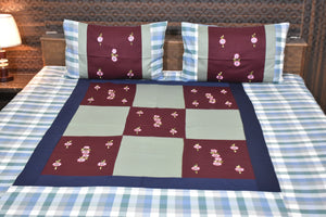 Fabby Decor Designer Mix & Match Embroidered cotton King Size Bedsheet