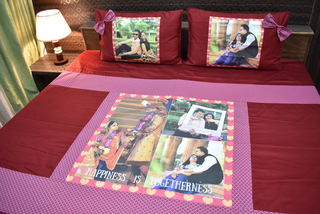 Personalized Photo Printed Bed Cover Set