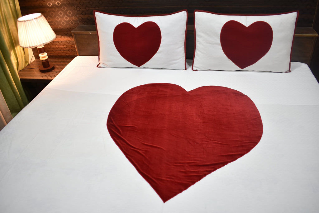 Great ... Valentine Lovers  Red Heart Bedding Set Love Bed Sheets ...