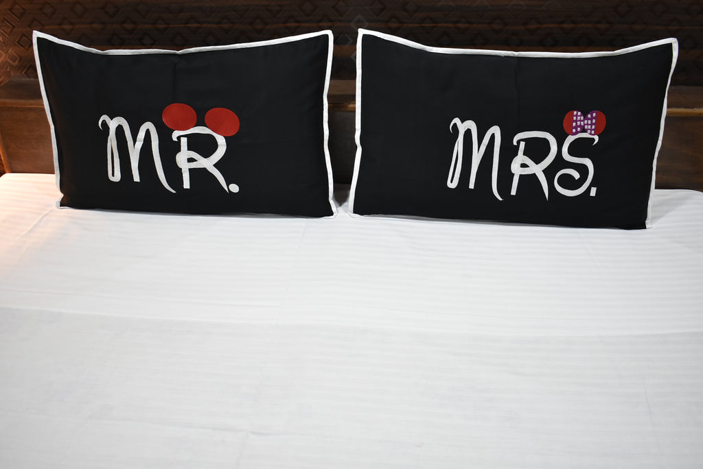 Mr And Mrs Pillow Cover Pair Only Fabrica Furnishings Fascinating Mr And Mrs Pillow Covers