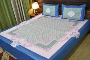 Fabby Decor Designer Print Cotton Double Bedsheet (90*108 Inch)