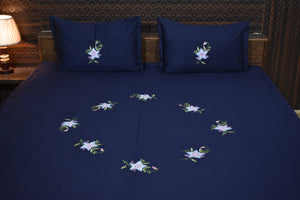 Decor Cotton Embroider Designer Double Bedsheet