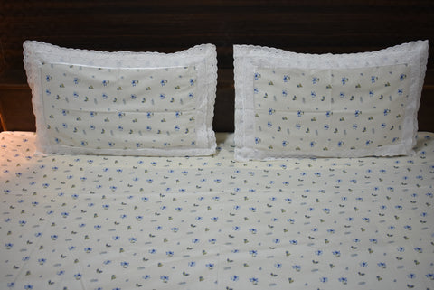 Fabby Home Lace Double Bedsheet