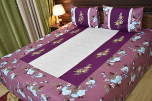 Decor Designer Mix & Match Embroidered King size Double  Bedsheet