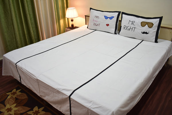 Mr and Mrs Double Bedsheet
