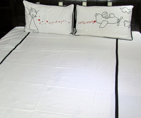 Love in the Air Double Bedsheet