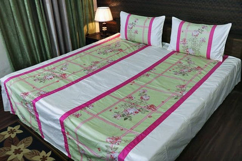 Fabby Decor Mix and Match Print Cotton Double Bedsheet