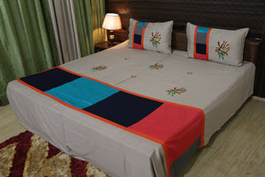 Royal Designer kingsize Cotton Embroider Double Bedsheet