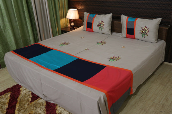 Fabby Royal Designer kingsize Cotton Embroider Double Bedsheet