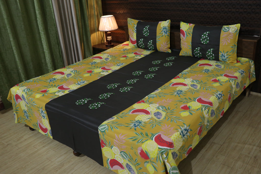 Fabby Decor Embroider Cotton Designer Bedsheet