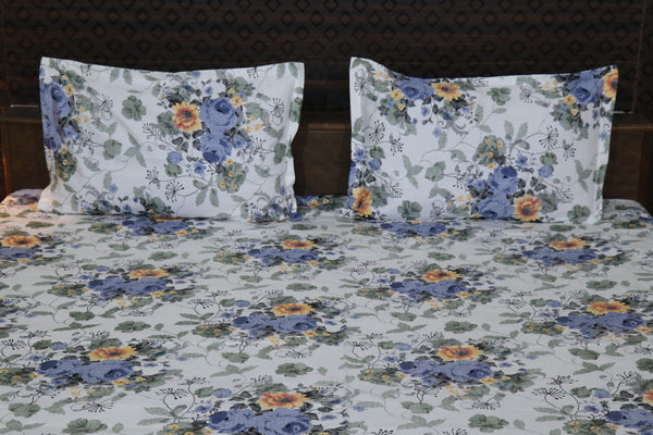 Fabby Decor designer Print Cotton Double Bedsheet