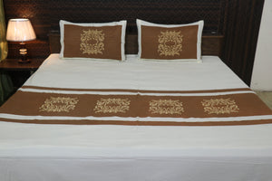 classic Embroider Cotton King Designer Bedsheet  Duplicate  View  More actions