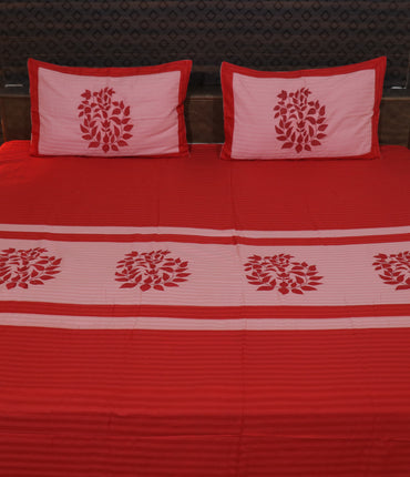 Decor classic Embroider Cotton King Designer Bedsheet