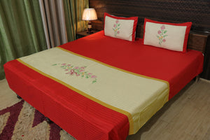 Fabby Decor classic Embroider Cotton Designer Bedsheet