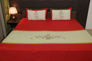Decor Classic Embroider Cotton Designer Bedsheet