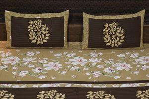 Fabby Decor classic Embroider Cotton King Designer Bedsheet